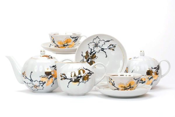 Dulevo porcelain / Tea set 15 pcs. Tulip sakura