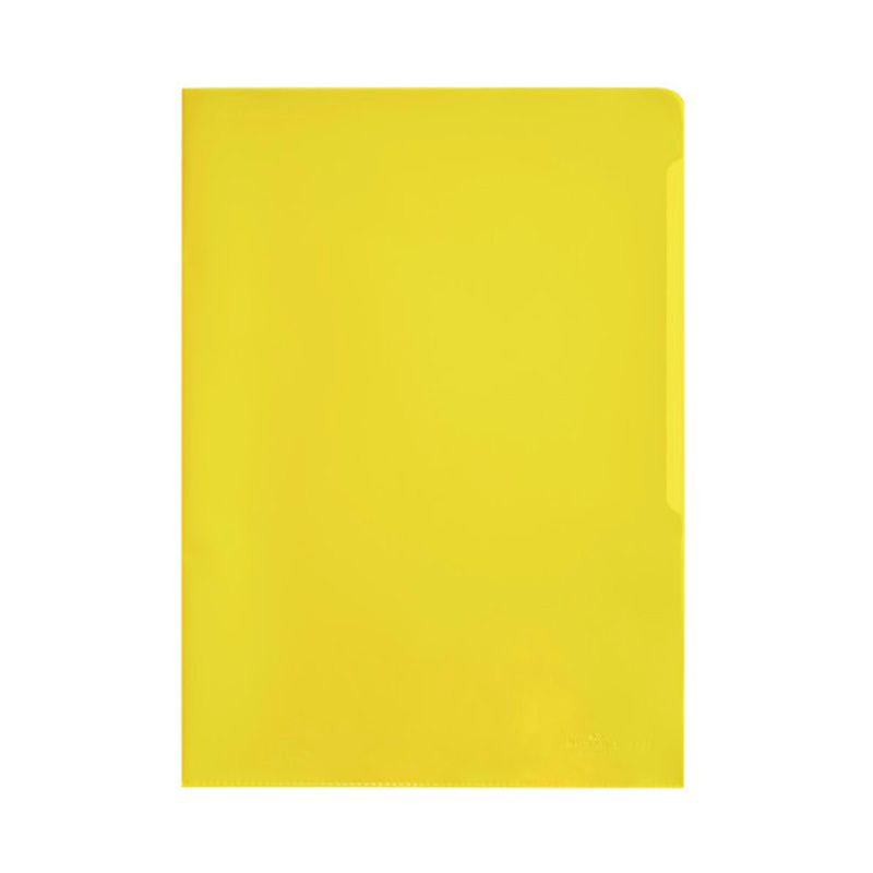 Durable / Folder-folder for documents, 100 microns, A4, matte, polypropylene Yellow