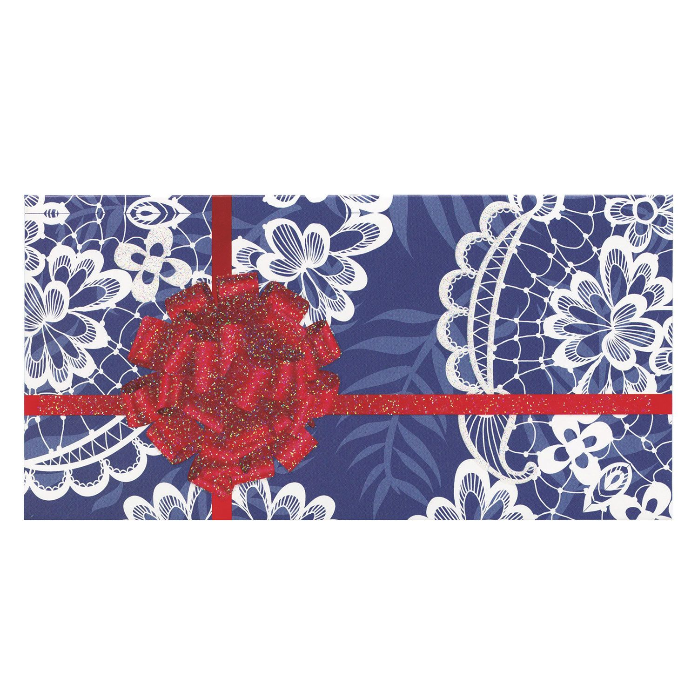 "BRAUBERG / Envelope for money, 166x82 mm, sequins, ""lace"""