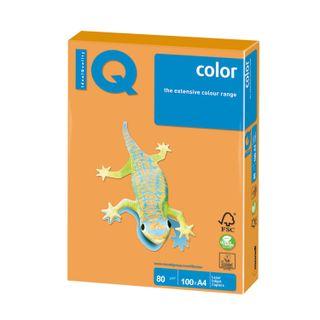 IQ COLOR / A4 paper, 80 g / m2, 100 sheets, neon, orange