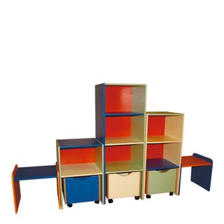 Shelving for manuals and toys