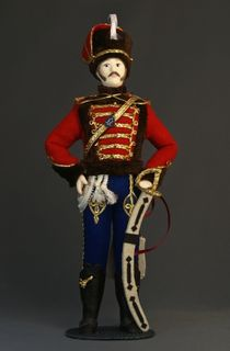 Doll gift porcelain. Russia. Hussars. The uniform of the life guards hussar regiment. 1849