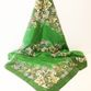 Silk scarf Khokhloma painting, green background - view 1