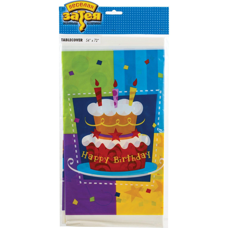 """FUNNY ZATEYA / Tablecloth polyethylene, 140x180 cm, """"Cake"""""""