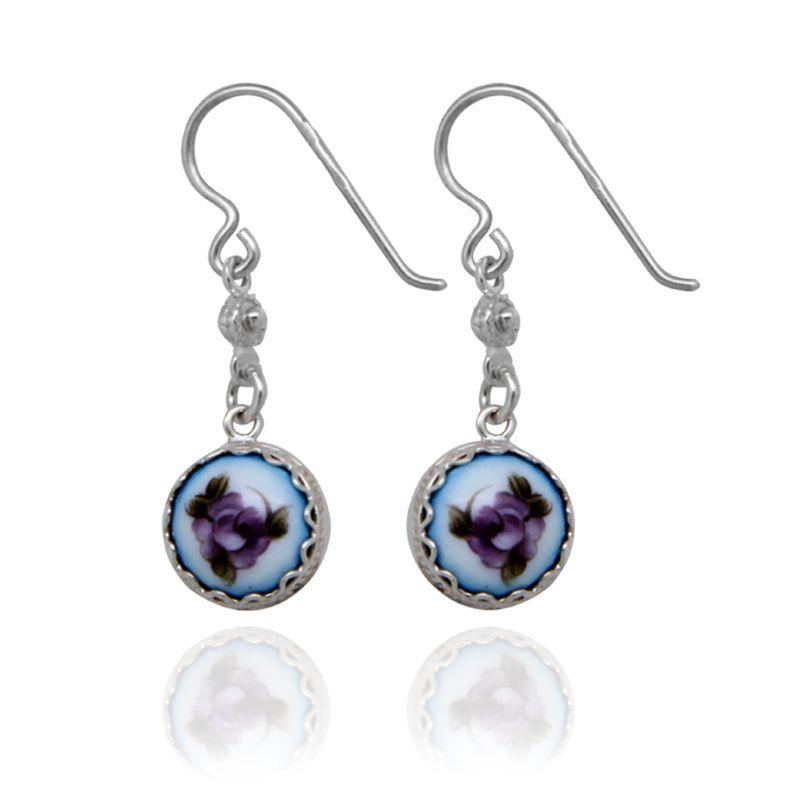 "Rostov enamel / Earrings ""Peas"" blue"