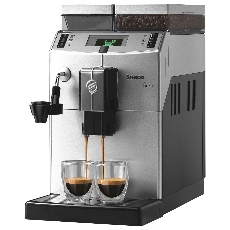 SAECO LIRIKA PLUS coffee machine, 1850 W, 2.5 litres, 500g grain container, car-making, silver