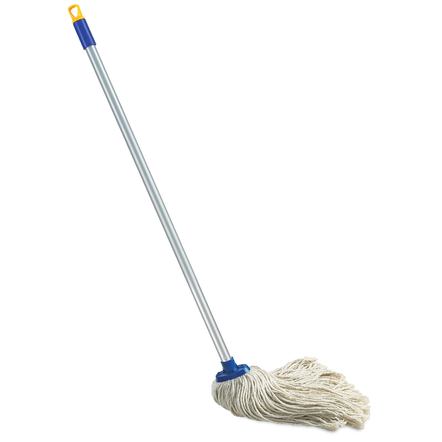 LIME / Mop with rope attachment, handle 120 cm, euro thread, 165 g (cotton), pile 26 cm