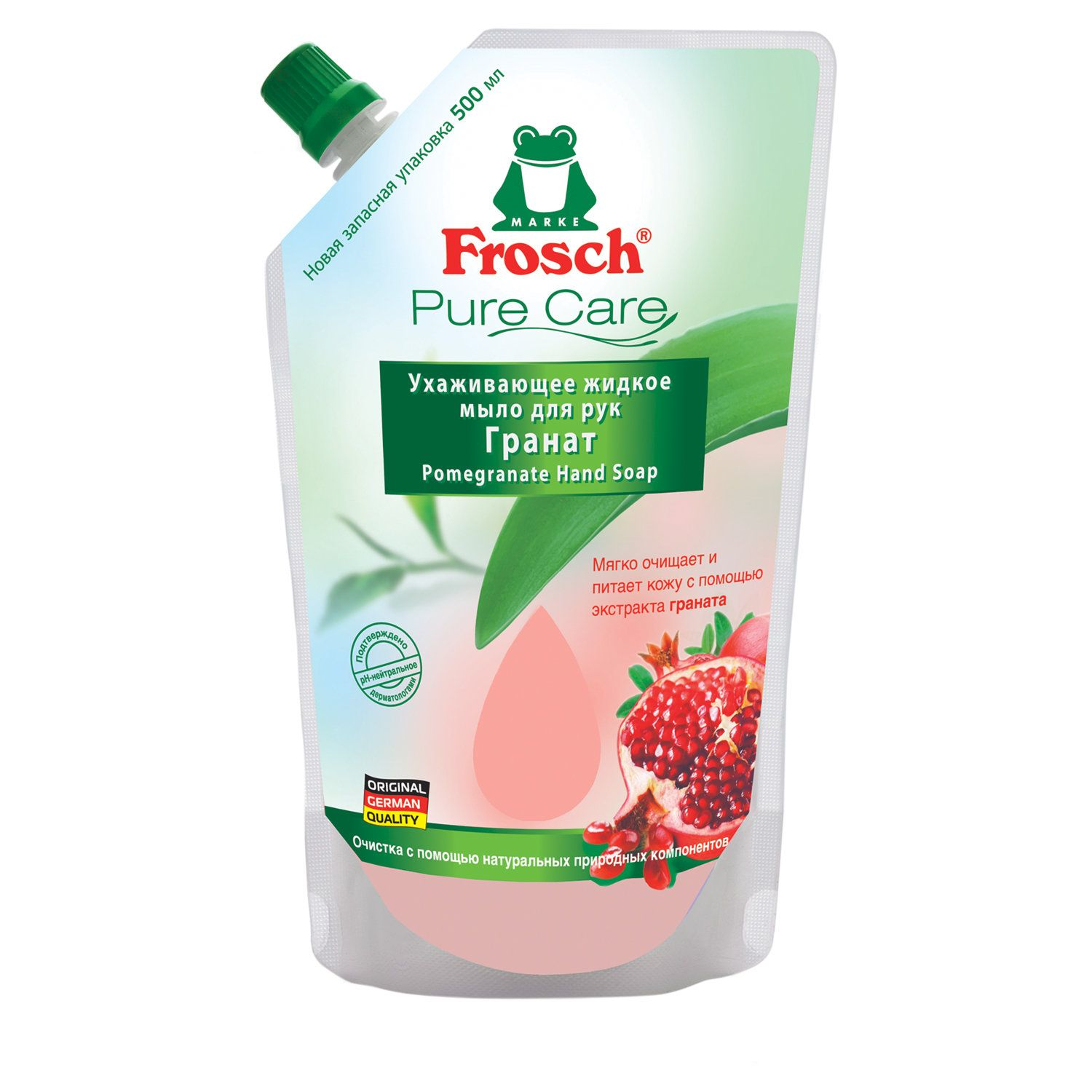 "Liquid soap 500 ml FROSCH ""Pomegranate"" (Germany), moisturizing, natural, ECO, doy-pack"