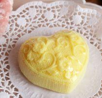 Yellow Knitted Heart - Handmade Soap