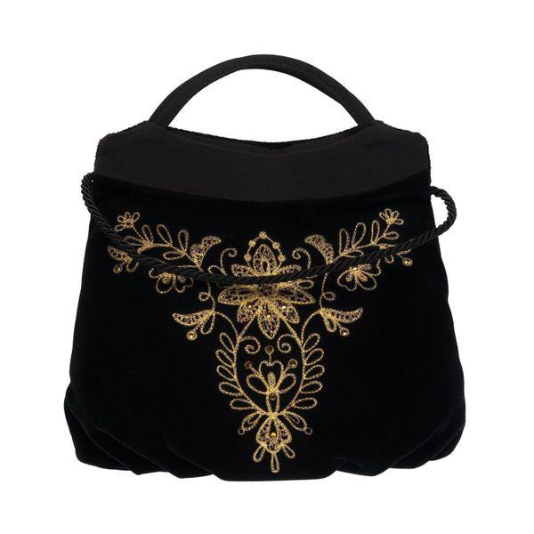 Velvet moonlight bag black gold