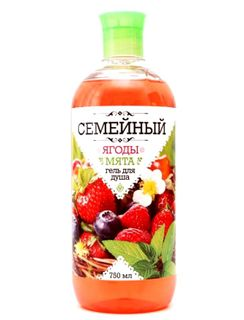 Family Shower Gel Berry and mint 750 ml.