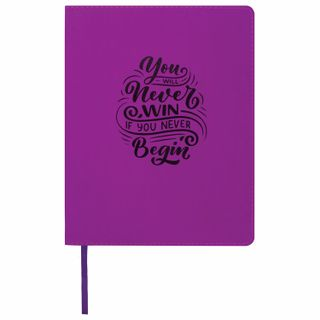 Diary 1-11 class 48 sheets, cover leather (light), print, BRAUBERG DAZZLE, purple