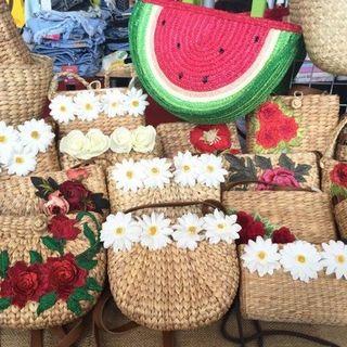 Water hyacinth shopping bags