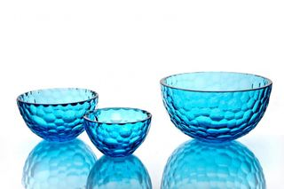 "Crystal vase for sweets ""Serenade"" turquoise"