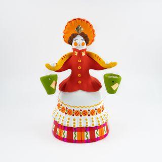 Clay figurine water-bearer 10 x 20 x 9, Dymkovo toy