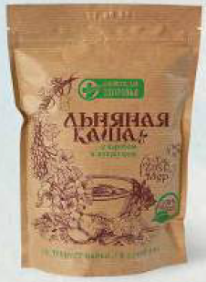 Flour and cereal products: Dry cereals based on flax seeds: Flax porridge with carob and sesame seeds, 400g