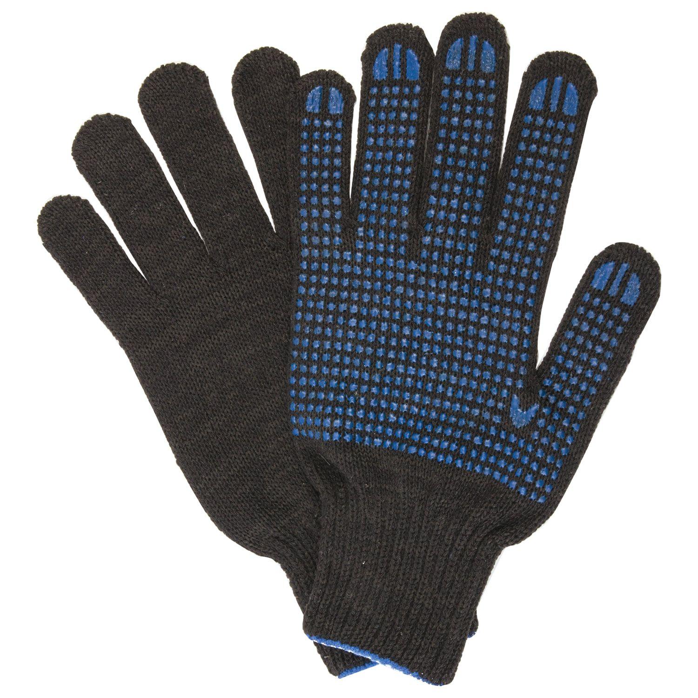 LIMA / Cotton gloves LUX 2, SET of 5 PAIRS, grade 10, 50-52 g, 133 tex, PVC point, BLACK