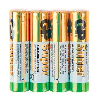 GP / Batteries Super, AAA (LR03, 24A), alkaline, little fingers, foil, SET 4 pcs.