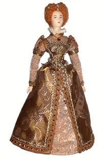 Doll gift. Lady-in-waiting of Queen Elizabeth. 16th century. England.
