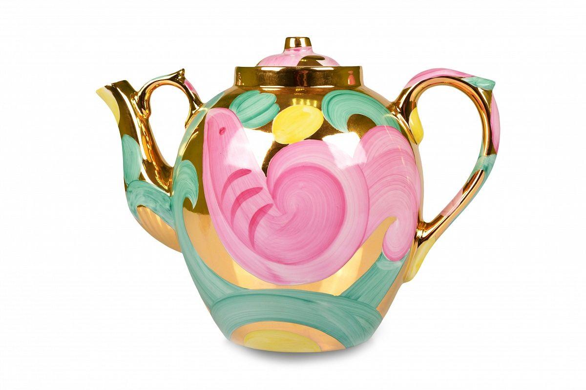 Dulevo porcelain / Teapot 4500 ml Pink bird