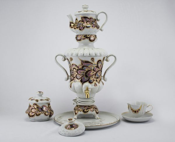 Delta-X / Porcelain electric samovar model 4 with tea pairs