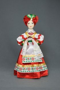 Doll gift porcelain. Kubanochka