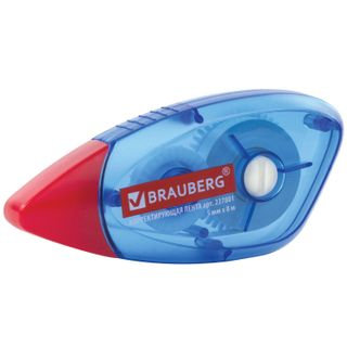 BRAUBERG correction tape 5 mm x 8 m, case blue, the rewind mode, blister
