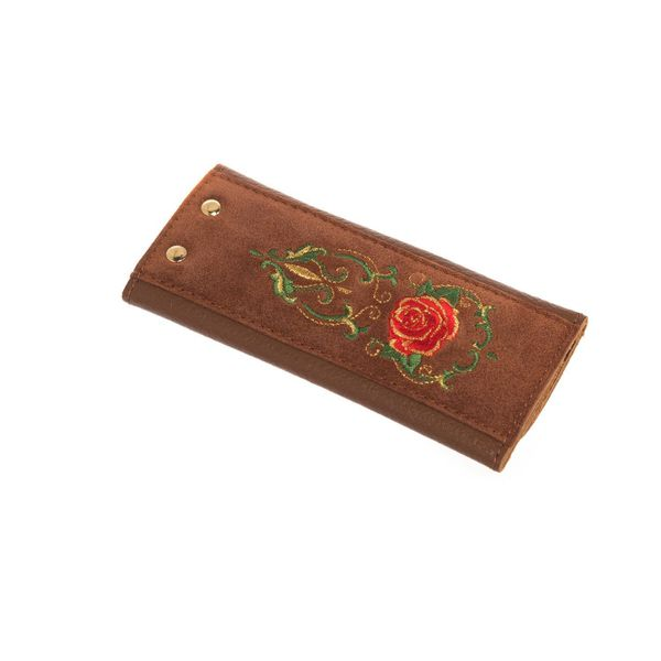 Leather key holder 'Rosalia' caramel