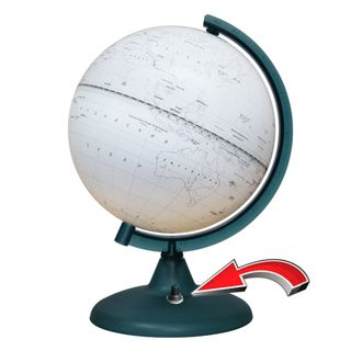 Outline globe with a diameter of 210 mm with backlight battery powered (batteries not included)