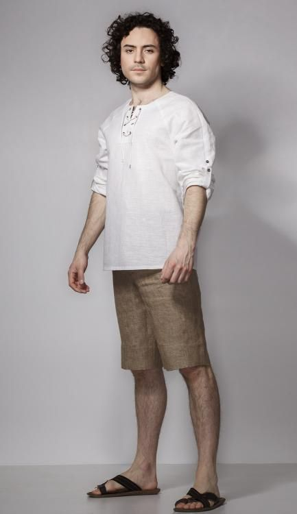 """Shorts men's """"Motive of life"""" of sand flax"""