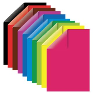 Cardboard colour A4 2-sided COATED, 10 sheets, 10 colors, in a folder, TREASURE ISLAND, 200х290 mm,