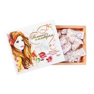 "Sweets ""Dried apricots with ginger"" in dark chocolate, 180 g"