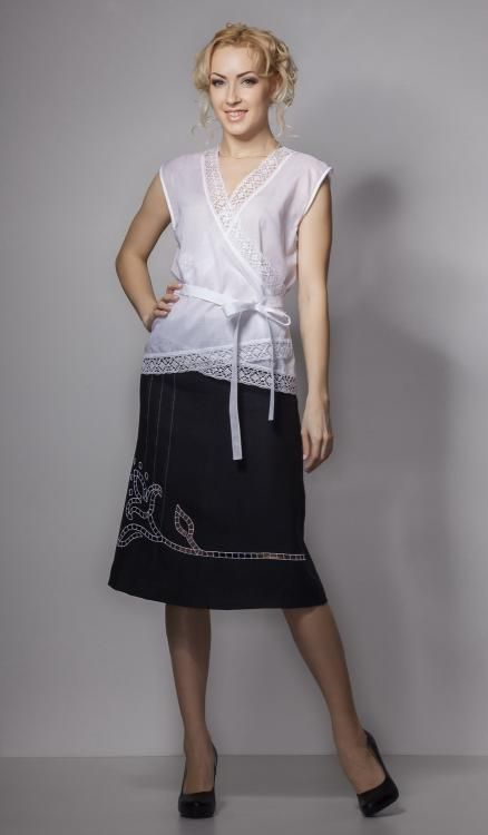 Skirt women's Giselle with cutwork