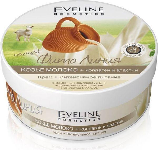 Cream-intense nourishment: goat's milk+collagen and elastin of the series phyto line, Eveline, 210 ml