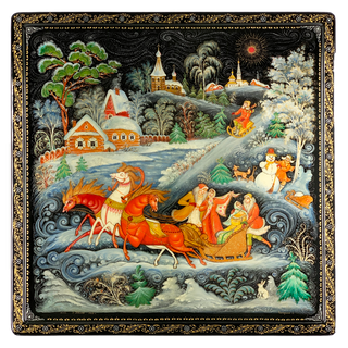"Box Palekh ""Winter"", the master Chaparina"