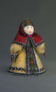 Doll-poteshka gift. Boyar. Wood, textiles.