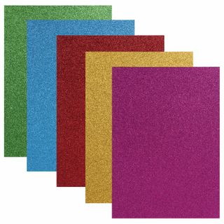 Coloured paper, A4, offset, self-ADHESIVE, 5 sheets 5 colors,