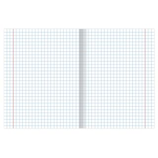 Notebook GREEN cover, 12 sheets HATBER, offset, large cells with fields