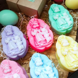 Easter handmade soap olive Rabbits - mix of colors