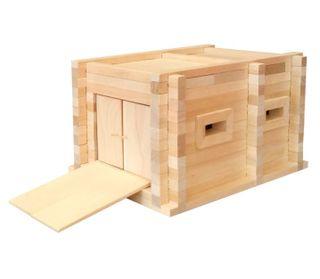Children's Wooden Constructor Garage 2 series Teremok