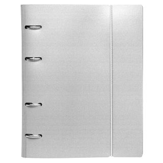 Notebook on A5 rings (175 x220 mm), 120 sheets, plastic cover, cage, with fixing gum, HATBER