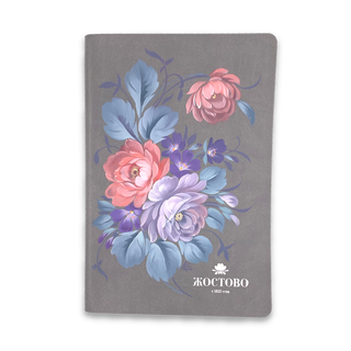 The diary of the author's Zhostovo hand-painted, grey