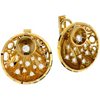 "Earrings, pendant and ring in yellow gold ""Champagne"" collection"