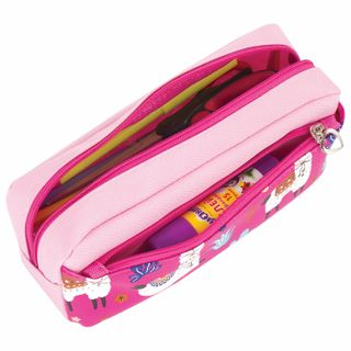 Pencil case-cosmetic bag INLANDIA, 2 branches, soft,
