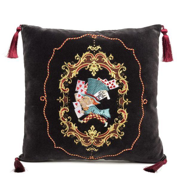Sofa pillow 'Hatter' gray velvet