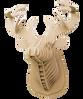 3D figure – Head of red deer KVK Brown - view 4