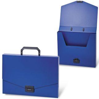 Portfolio plastic BRAUBERG Energy A4 (330х256х32 mm), no of branches, blue