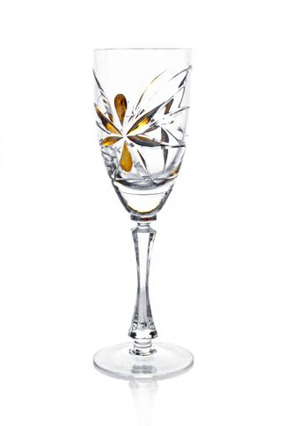A set of crystal glasses for red wine
