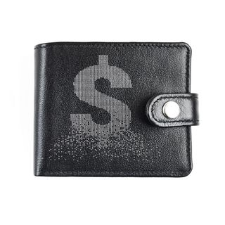 "A purse with finished edges ""Dollar"" black"