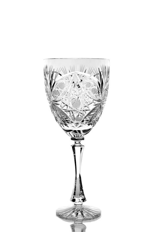 """Set of crystal glasses for red wine """"Machaon"""" 6 pieces"""